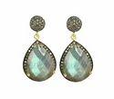 Labradorite Diamond Pave Set Earrings