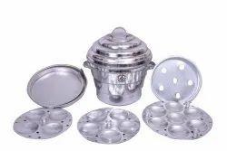 JK VALLABHDAS Manual C-03. Aluminium Fancy Idli Pot, 3+3+1, for Home