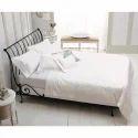 Black Parisian Designer Wrought Iron Single Bed