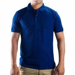Men's Cotton Royal Blue Collar T-Shirt