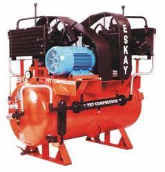 PET Compressor 40 HP Twin High Pressure Tank Mount