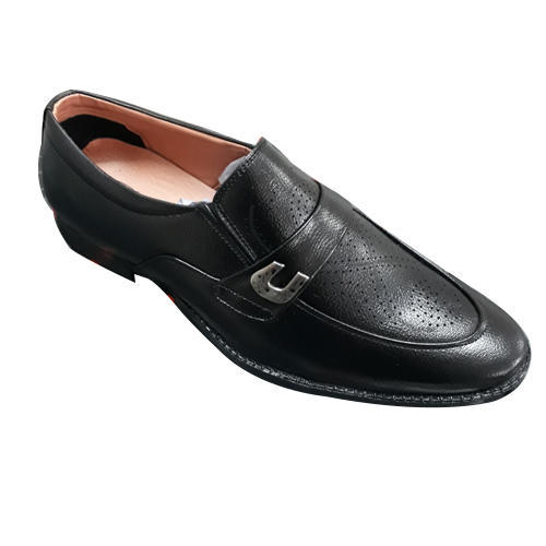 648bd101866 Mens Black Leather Moccasin Formal Shoes