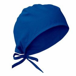 Blue Cotton surgical cap