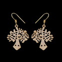 Nature Inspired Sacred Tree of Life Delicate Earrings