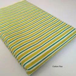 For Garment Striped Cotton Flex Fabric, Multicolour