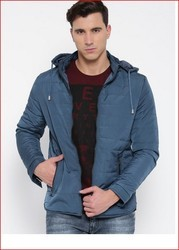 Fort Collins Blue Quilted Jacket With Detachable Hood