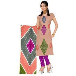 Multi Color Bandhej Suit