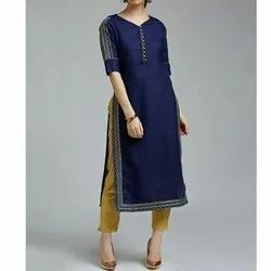 Cotton Casual Wear Ladies Fancy Kurti, Machine Wash, Hand Wash