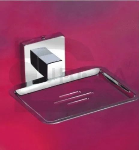 Silver Bathroom Accessories Soap Dish, Shape: Square, Model Name/Number: Amazon
