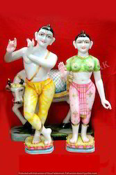 Jugal Radhe Krishna Marble Statue