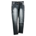 Boys Regular Fit Black Faded Jeans, Waist Size: 36