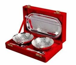 Decorative Silver Plated Bowl Gift Set