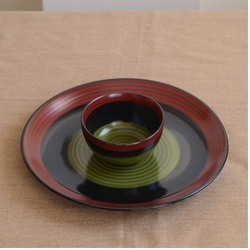 Ceramic Dinner Plate With Bowl
