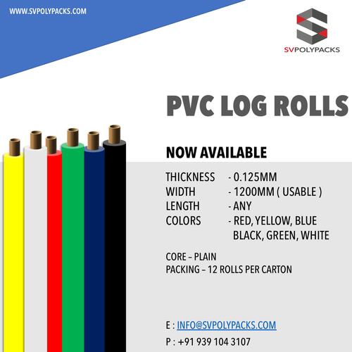 Self Adhesive PVC Electrical Insulation Log Rolls