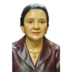 Wooden and Fiber Portrait Statue