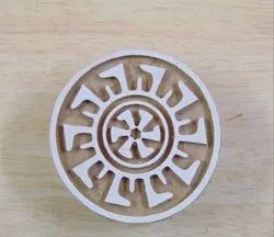 Round Shape Wooden Printing Stamp