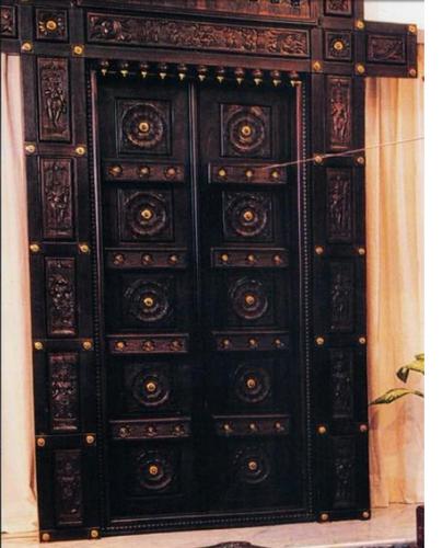 Carved temple door home temple door ashok nagar bengaluru