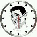 Sarcasm Acrylic Steel Wall Clock