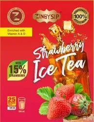 Zingysip Natural Strawberry Ice Tea ( 500 Gm.) With Natural Vitamin A & D