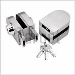 Glass to Glass Lock with One Side Key and Other Side Knob (Rectangular Shape)