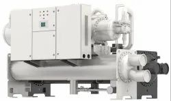 Hitachi 3200 Water Cooled Screw Chiller HVAC, Capacity: 5 - 3200 Tr
