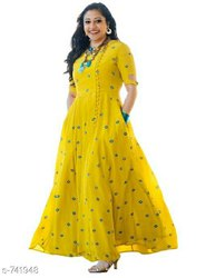 Designer Rayon Party Wear Kurtis