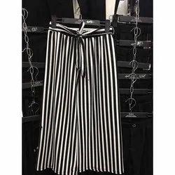 Plain Casual Wear Culottes Pants, 26 - 32