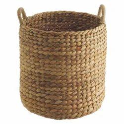 Brown Water Hyacinth Basket, 350 Gm