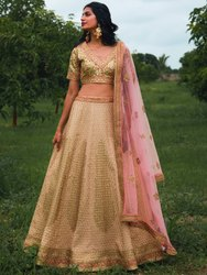 Exclusive Women's Net Embroidery Semi Stitched Lehenga Choli By Parvati Fabric