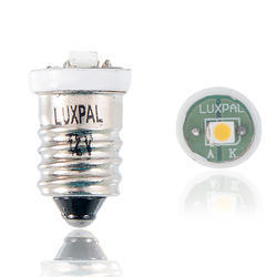 Luxpal Nickel Plated Brass Cap Torch And Flash Light LED Bulb Without Lens