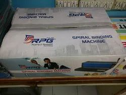 Spiral Binding Machine, 12 To 15 Sheets, Size/Dimension: Upto Legel Size