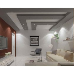 Living Room Decoration Gypsum False Ceiling Services