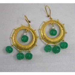 925 Sterling Silver Earring Jewelry with Melon Cut Natural Gemstones