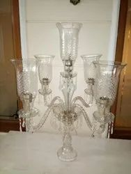 Tall Glass Candelabra