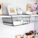 Under Cabinet Storage Shelf Wire Basket For Kitchen Pantry Bookshelf Cupboard Desk