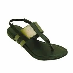 Daily wear Black FLOY-FLAT SANDALS, Size: 37-42