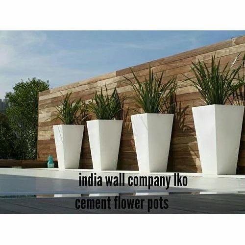 White Square Concrete Flower Pots  sc 1 st  IndiaMART & White Square Concrete Flower Pots Rs 1200 /unit India Wall Company ...
