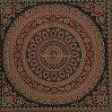 Black Mandala Round Bolster Cover