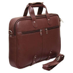 Brown Leather Office Laptop Bag