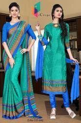 Uniform Saree and Salwar for teachers