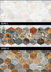 6046 (L, H) Hexa Ceramic Tiles Matt Series