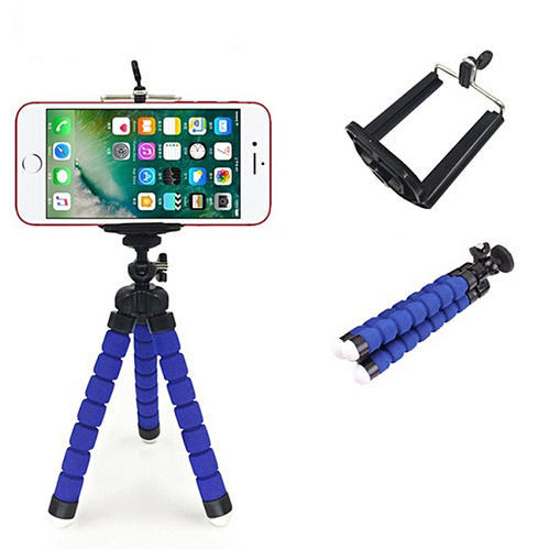 Mini Mobile Cell Phone Tripod Stand with Holder Adapter Foldable Octopus Flexible Mount for All mobi