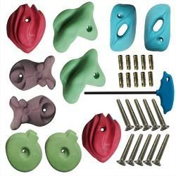 X Large Climbing Holds, Fastener, Bolt, LN Key