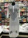 White Cotton Hand Embroidered Chikankari Kurti