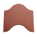 Red Concrete Wave Paver Block, Thickness: 10 - 20 Mm, For Landscaping
