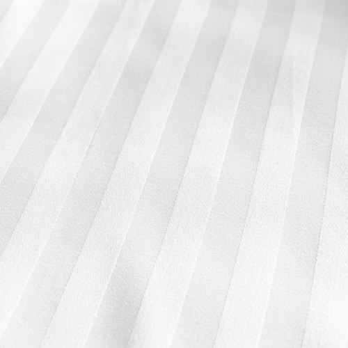 White Satin Stripe Bedsheet Fabrics