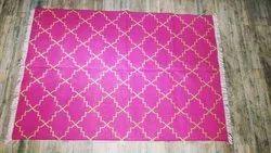 Assorted Woven Cotton Lurix Floor Rug, Size: 4 X 6 Feet
