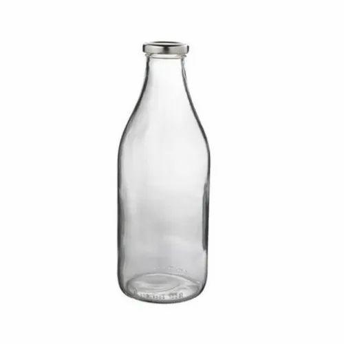 Transparent 500 Ml Milk Glass Bottle