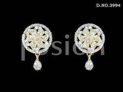 Cubic Zircon AD Stud Earrings