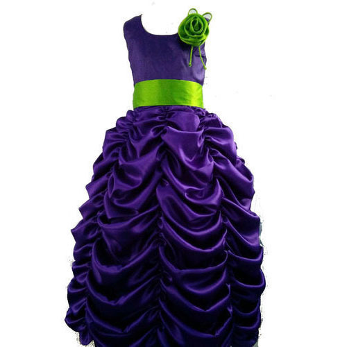 Yellow Georgette Kids Ball Gown Dress Rs 3000 Piece Kanik Fashions Id 16139186133